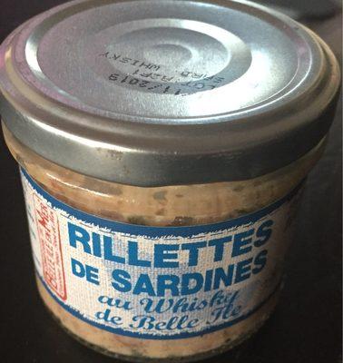 Rillettes de sardines au whisky de Belle ile - Product