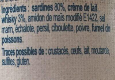 Rillettes de sardines au whisky de Belle ile - Ingrediënten