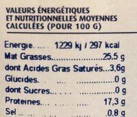 Thon Blanc à l'huile d'olive - Valori nutrizionali - fr