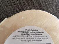Le Perail De Brebis - Ingredients - fr