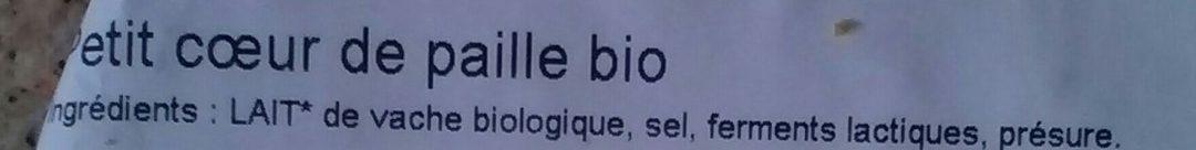 Petit cœur de paille bio - Ingredients