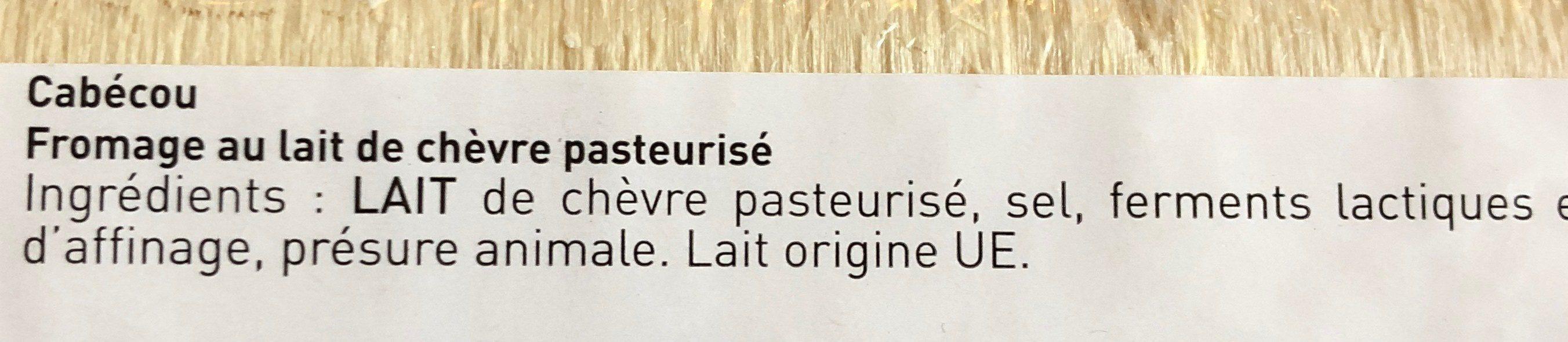 Cabécou - Ingredients - fr