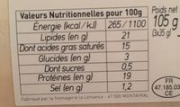 Cabecou - Nutrition facts