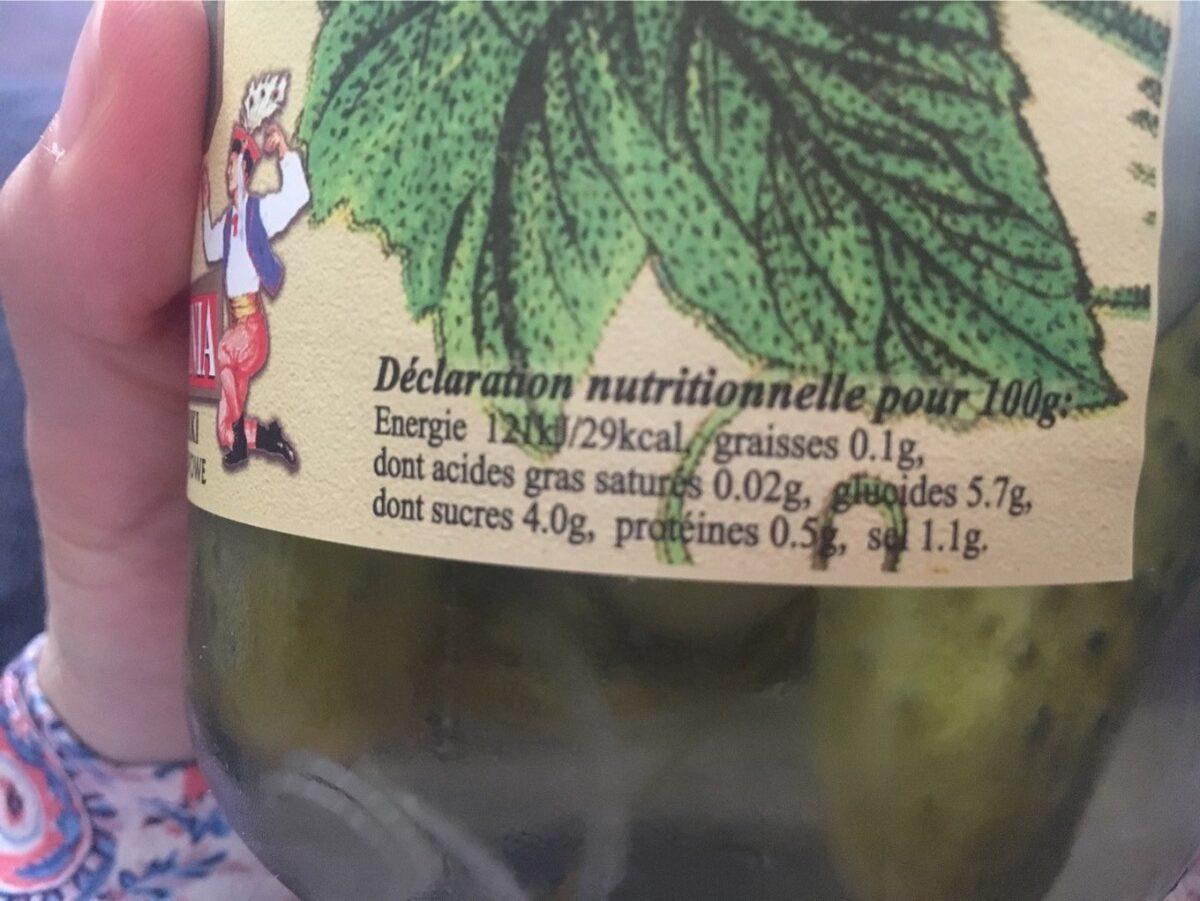 Cornichons Aigre-doux Polonia - Informations nutritionnelles