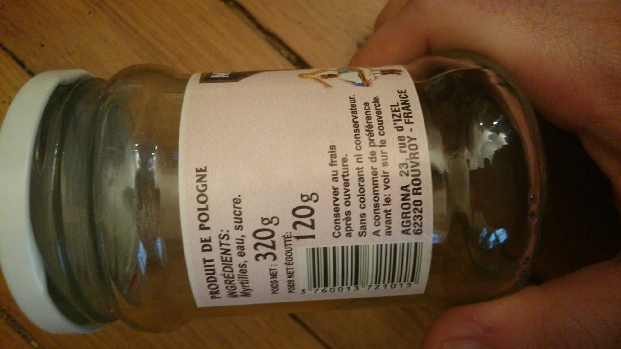 Myrtilles Des Bois En Sirop - Produit - en