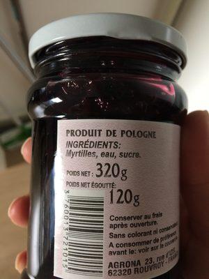 Myrtilles Des Bois En Sirop - Ingrédients