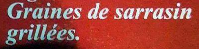 Graines de Sarrasin Grillées - Ingrédients - fr