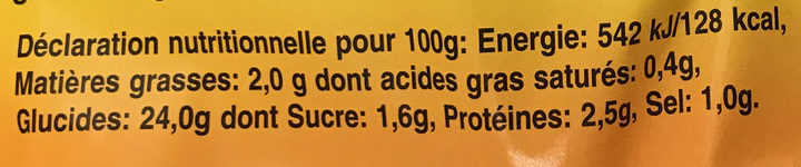 Plenze - Informations nutritionnelles - fr