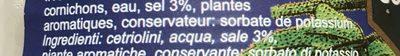 Cornichons au sel - Ingrédients