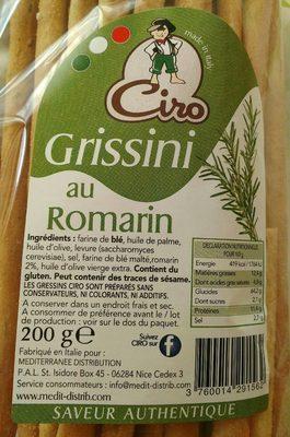 Grissini au romarin - Product - fr