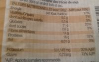Maccheroni pois chiches - Informations nutritionnelles
