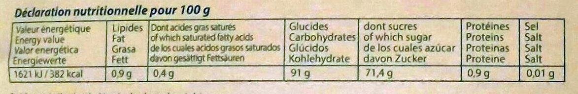Compote de pomme - Nutrition facts - fr