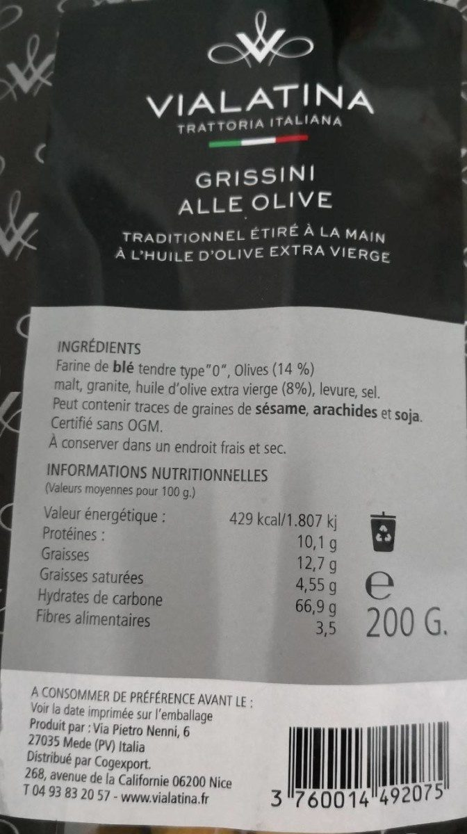 Grissini alle olive - Product