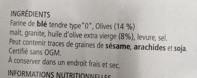 Grissini alle olive - Ingrediënten