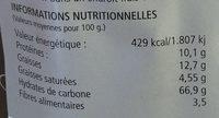 Grissini alle olive - Voedingswaarden - fr