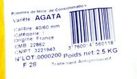 Pommes de terre de Bretagne (variété Agata) - Ingrédients