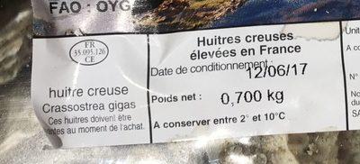 Huîtres creuses - Ingrédients - fr