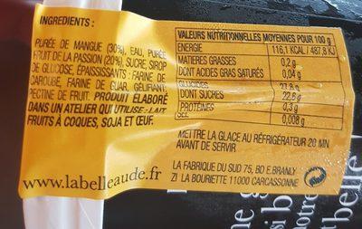 Mangue - Ingrédients
