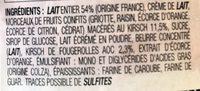 Crème glacée plombière - Ingredients - fr