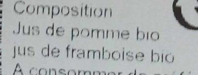 Pom framboise - Ingredients