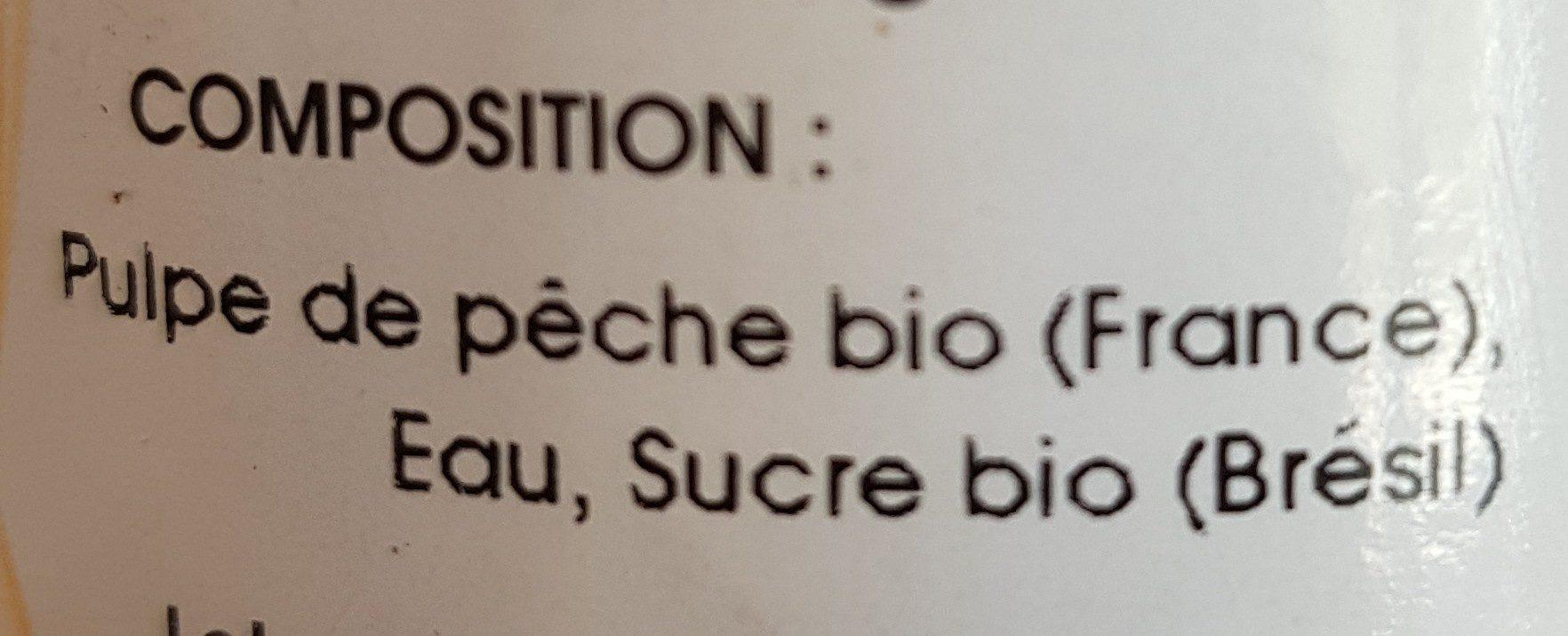Nectar de pêche - Ingrediënten - fr