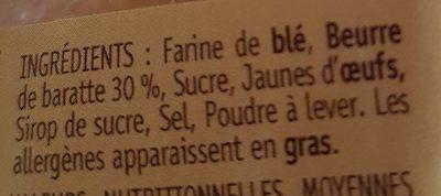 Palets Breton - Ingrediënten - fr