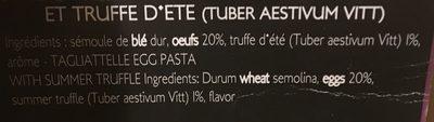 Tagliatelle aux oeufs et truffe - Ingrédients