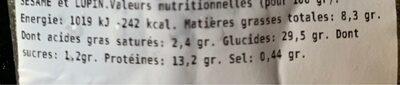 raviolis perrin - Nutrition facts - fr