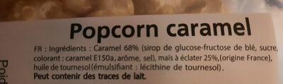 Movies, Pop corn caramel - Ingredienti - fr