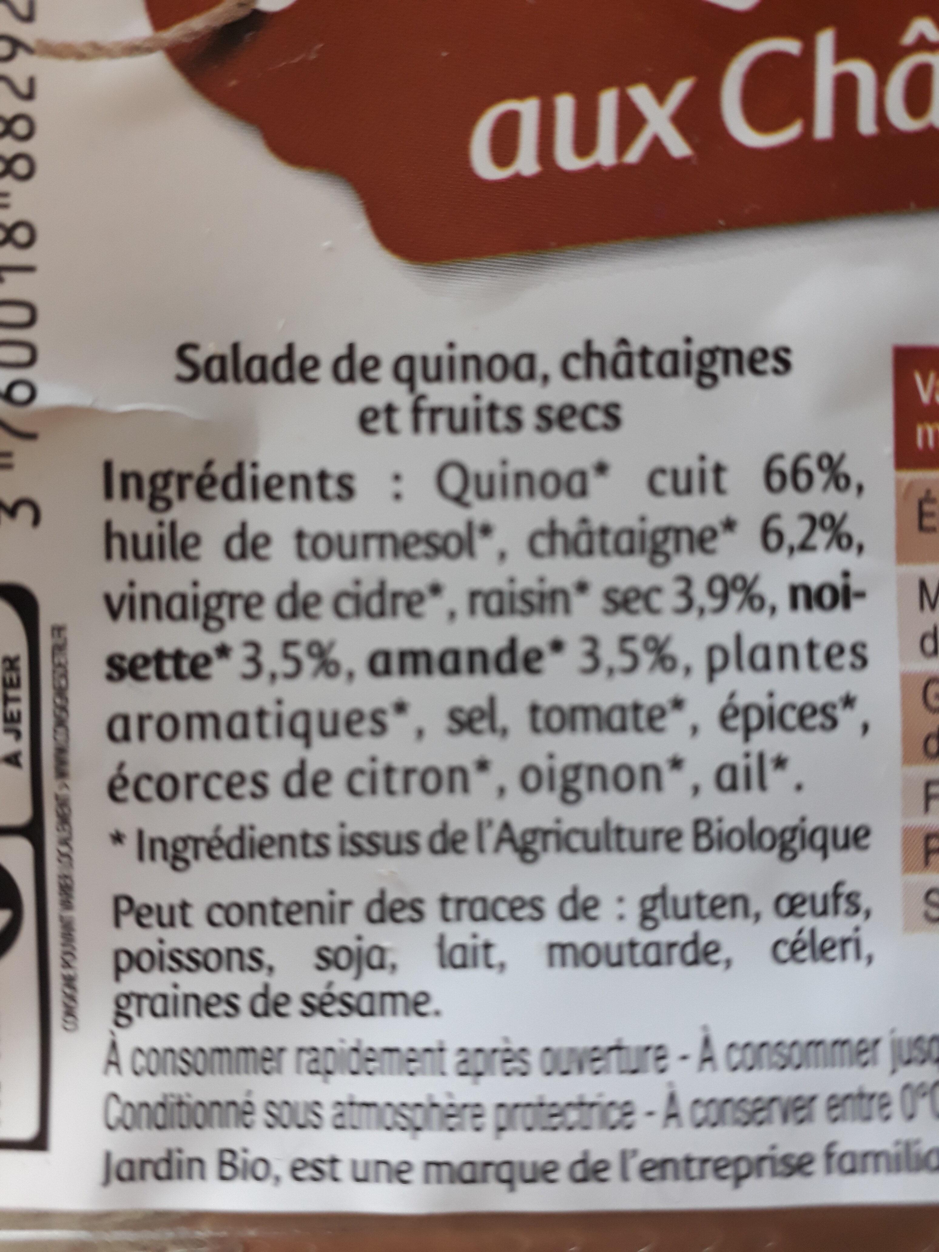 Salade de quinoa aux châtaignes - Ingrédients - fr
