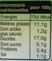 Riz thai parfumé au citron et à la coriandre - Nutrition facts - fr