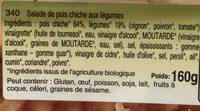Salade De Pois Chiches a L'orientale - Ingredients