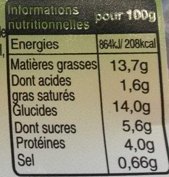 Quinoa aux Châtaignes et Fruits Secs - Informations nutritionnelles