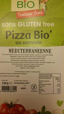 Pizza Bio' au Sarrasin Méditerranéenne - Produit