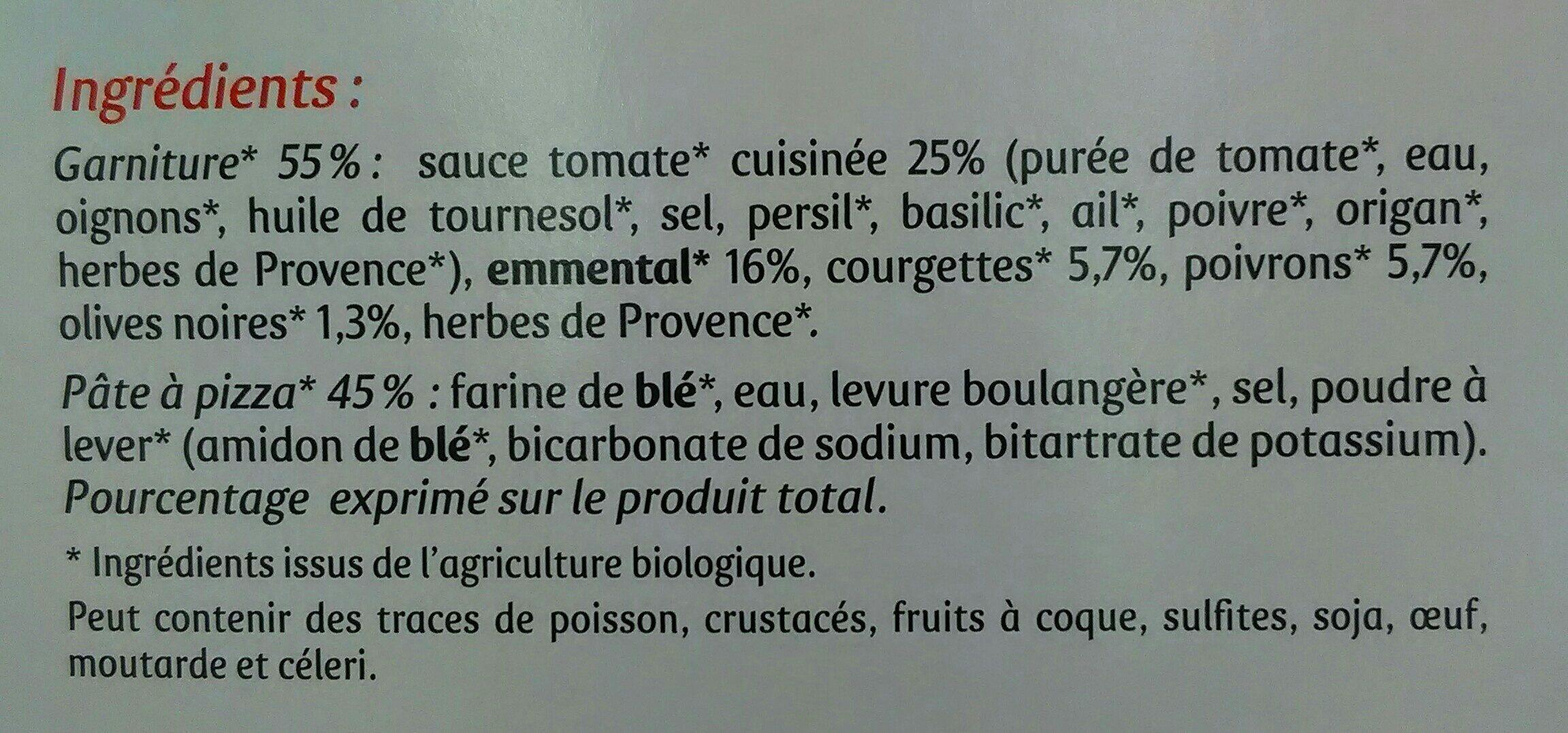 Pizza Bio 4 Saisons - Ingredients