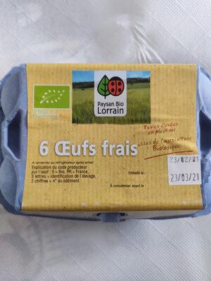 6 oeufs frais bios - Prodotto - fr