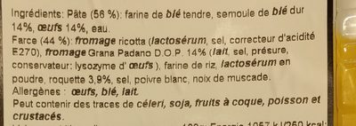 Mezzaluna Grana Padano & Roquette - Ingrediënten - fr