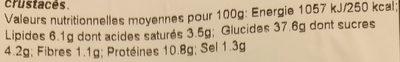 Mezzaluna Grana Padano & Roquette - Voedingswaarden - fr
