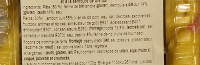 Tortelloni Prosciutto Cotto e Basilico - ATTTENTION AUTRES PHOTOS - Ingrediënten - fr