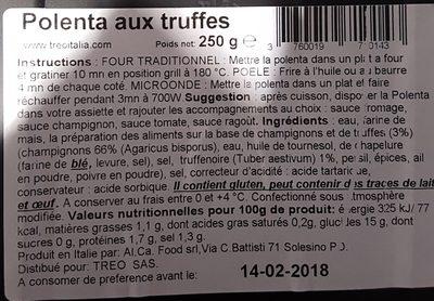 Treo - Ingredients