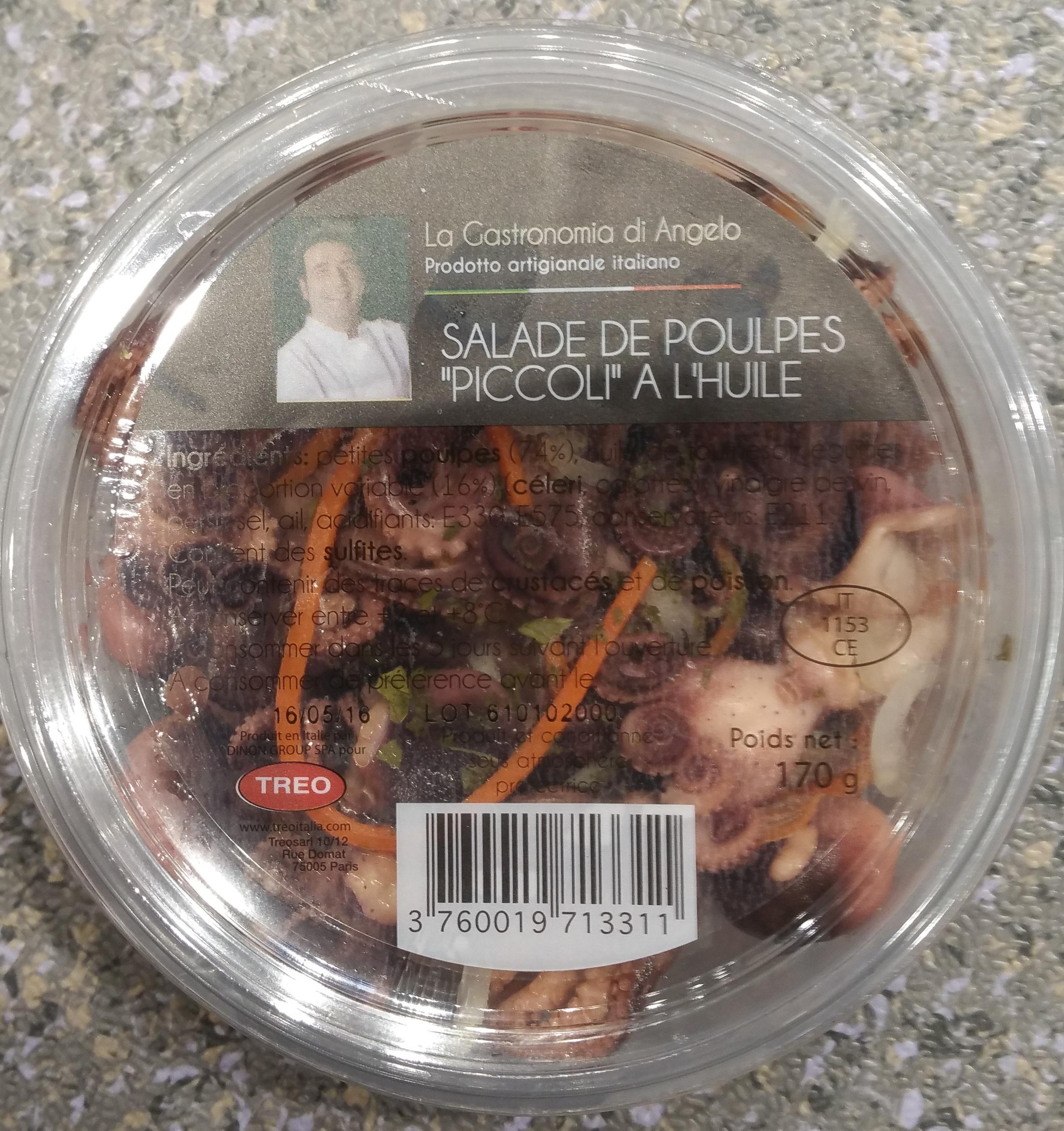 Salade de Poulpes Piccoli à l'Huile - Produit - fr