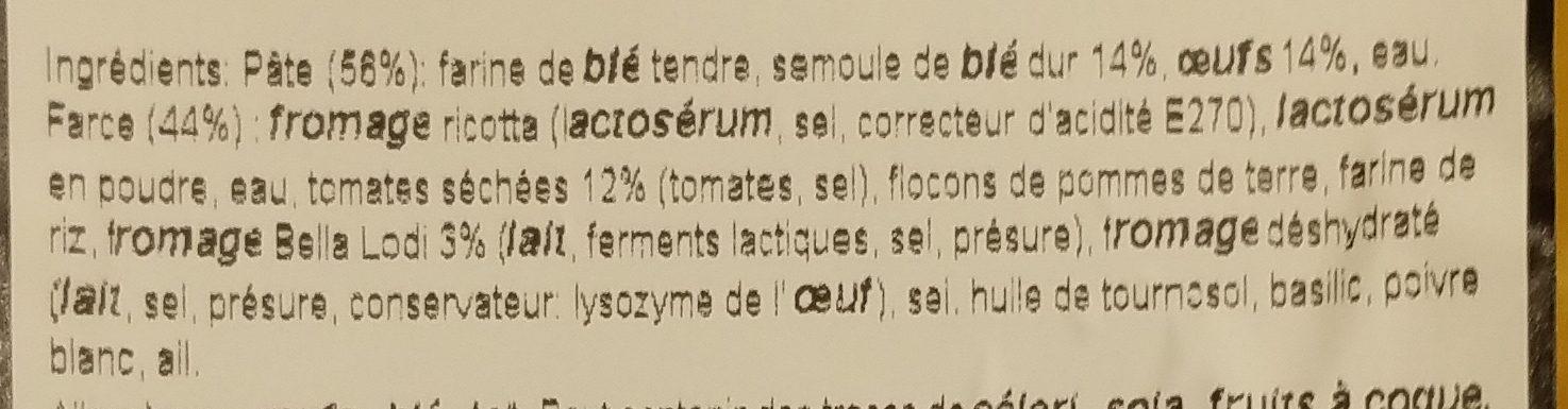 Mezzaluna Bella Lodi e Pomodori Secchi - Ingrediënten - fr