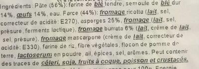 Mezzaluna Burrata & Asperges - Ingrédients - fr