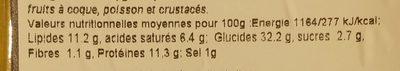 Mezzaluna Burrata e Asparagi Verdi - Nutrition facts