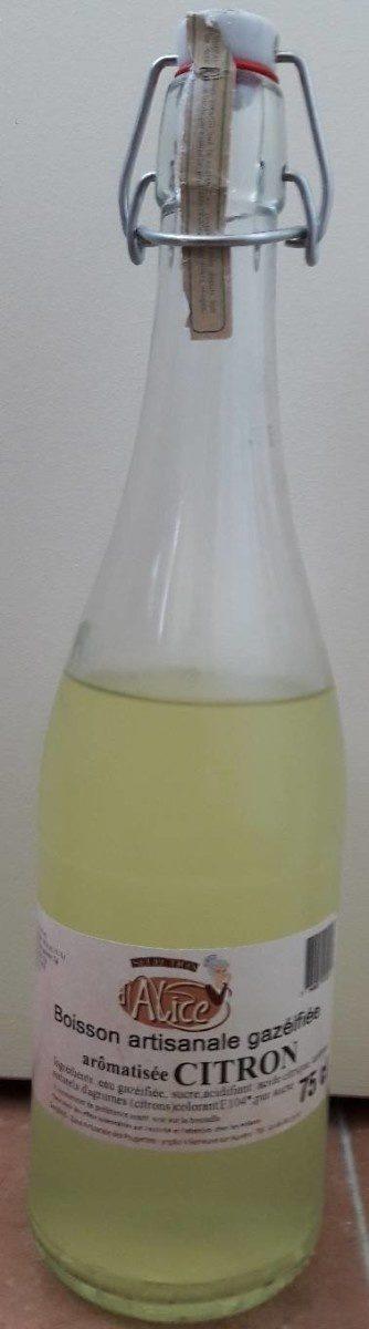 Boisson artisanale gazéifiée aromatisée citron - Product