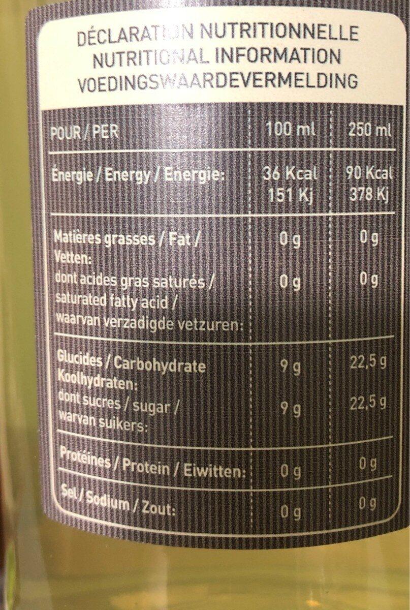 Boisson artisanale gazéifiée aromatisée citron - Voedigswaarden