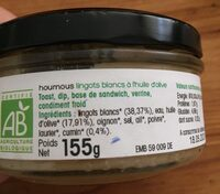Houmous de lingots blancs - Ingrediënten - fr