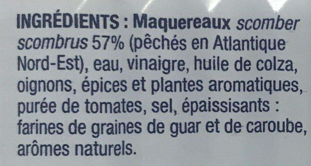 Filets de Maquereaux à l'escabèche - Ingredients
