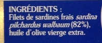 Filets de sardines à l'huile d'olive - Ingredients - fr