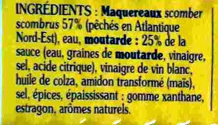 Filets de maquereaux à la moutarde - Ingredienti - fr